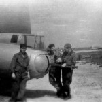 301° BG - Crew having a chat over the tailguns of a B-17 at Lucera (Mark Boyd, from the photo album of his father, Lt. Emmett W. Boyd, 301st BG - 32nd BS)