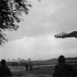 301 BG - B17 taking off for an ther mission from Lucera-(Mark Boyd, from the photo album of his father, Lt. Emmett W.Boyd, 301st BG-32nd BS)