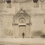1905 - Chiesa di San Francesco - Lucera - Foto su carta all'albumina - Lucera